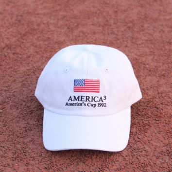 American Flag Embroidered Baseball Cap Sun Hat