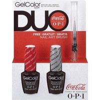 OPI GelColor - Coca-Cola Duo (Coca-Cola Red and My Signature Is) with FREE Nail Art Brush - #SPG55
