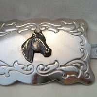Vintage Horse Head Belt Buckle Country Western