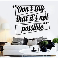 Vinyl Wall Decal Motivation Quote Inspired Office Decor Stickers Unique Gift (ig4502)