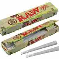 RAW Organic Unrefined Pre-Rolled Cone 32 Pack (King Size)