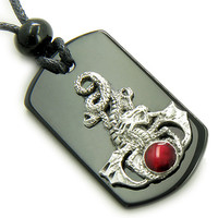 Amulet Magic Circle Dragon Spiritual Protection Agate Pendant Necklace