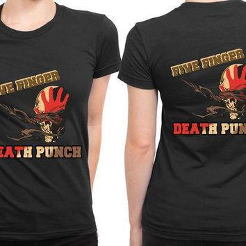 DCCKL83 Five Finger Death Punch Retro 2 Sided Womens T Shirt