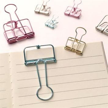 Free Shipping Cute Kawaii Colorful Large Metal Paper Clips For Photo Message Office Accessories School Supplies 6611