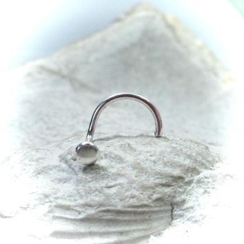 Nose Stud Sterling Silver Dot Thin