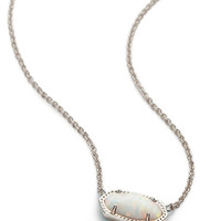 Kendra Scott Elisa White Kyocera Opal Silver Necklace