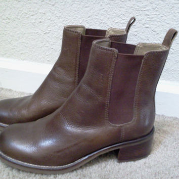 Leather Slip on Ankle Boots in Womens Size 71/2