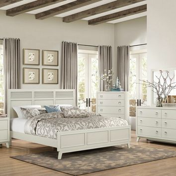 Home Elegance 1905-5PC 5 pc valpico collection cool grey with olive undertone finish wood bedroom set