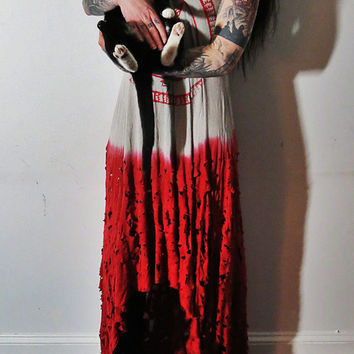 Hell Couture Bloody Pentagram Maxi Dress