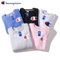Champion leisure popular LOGO new velvet and wool ring big C embroidery LOGO LOGO classic male and female lovers with the same style of sweater