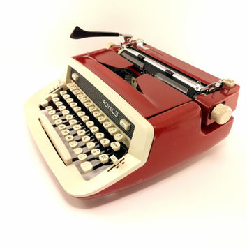 Reconditioned Royal Custom II Vintage Typewriter - Working Typewriter - Red Typewriter - Very Good Condition