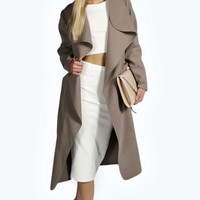Kate Belted Shawl Collar Coat