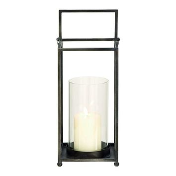 Stylish metal glass lantern