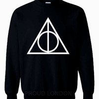 New Very Famous Harry Potter Deathly Hallows Printed Unisex Sweatshirt Jumper