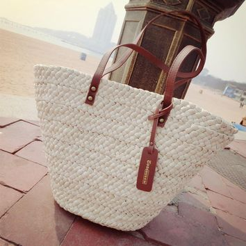 Mier women's handbag handmade straw bag straw bag beach bag