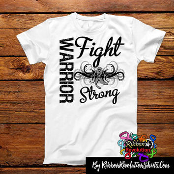 Brain Cancer Warrior Fight Strong Shirts (Brain Tumor, Diabetes, Parkisons Disease)