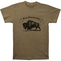 Foo Fighters Men's  Buffalo Banner Slim Fit T-shirt Olive