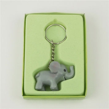 Baby Shower Favor Key Chain, 4-inch, Elephant