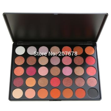 35 Color Eyeshadow Palette Silky Powder Professional Nature Make up Pallete Smoky Warm Matte Shining Eye Shadow 35F