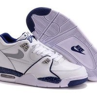 Cheap Nike Air Jordan Flight 89 Retro Men Shoes White Blue Grey