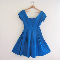 Vintage 60s • Pixie of California dress • bright blue gown • party dress