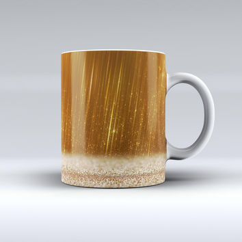 The Scratched Gold Streaks ink-Fuzed Ceramic Coffee Mug