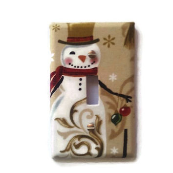 Snowman Light Switch Cover/ Holiday Switchplate