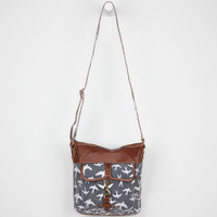 Bird Print Tote Bag Black Combo One Size For Women 21457614901