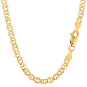 14k Yellow Gold Mariner Link Chain Necklace - 5.5 mm