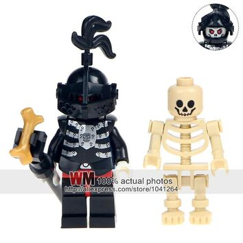 Single Sale AX9815H Skeleton Medieval Knights Castle Knights Skeleton Horses Building Bricks Blocks The Lord of the Rings Toys