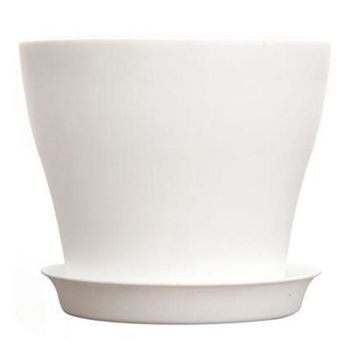 Plastic Plant Flower Pot Planter With Saucer