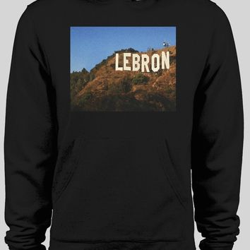 HOLLYWOOD SIGN LEBRON LOS ANGELES BASKETBALL WINTER HOODIE