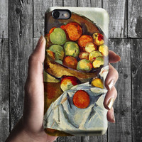Basket of Apples - Paul Cezanne iPhone Case 6, 6S, 6 Plus, 4S, 5S. Mobile Phone Cell. Art Painting. Gift Idea Anniversary. Gift for him/her
