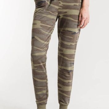 Z Supply - The Green Multi Camo Pants