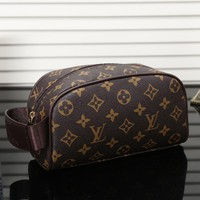Tagre™ LV Louis Vuitton Women Fashion Shopping Cosmetic Bag Leather Handbag Satchel Cosmetic Bag
