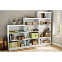 South Shore 3-Shelf Bookcase, Multiple Colors - Walmart.com
