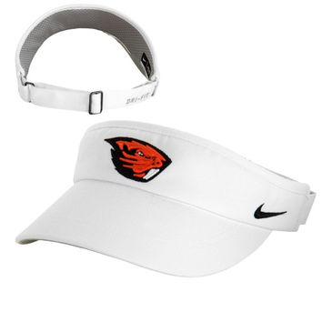 Oregon State Beavers Nike Sideline Dri-Fit Visor - White