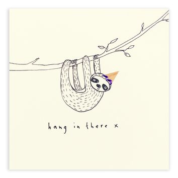Hang in There Pencil Shavings Card