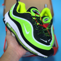 HCXX N355 Nike Air Max 98 20th Anniversary Casual Running Shoes Black Fluorescent Green