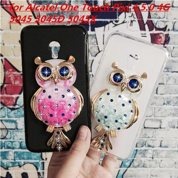 Original Phone Cases Cover for Alcatel One Touch Pixi 4 5.0 4G 5045 5045D 5045X 3D Quicksand Liquid Soft Silicone Case Girl