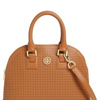 Tory Burch 'Robinson' Perforated Leather Dome Satchel