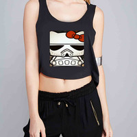 Hello Kitty Stormtrooper for Crop Tank Girls S, M, L, XL, XXL *NP*