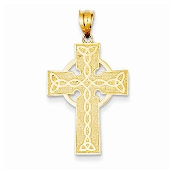 14k Gold Irish Cross Pendant