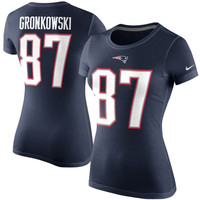 Rob Gronkowski New England Patriots Nike Women's Player Pride Name & Number T-Shirt– Navy Blue