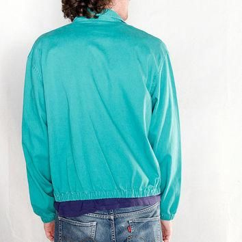 Vintage 1980's Ralph Lauren Polo Jacket // 80's Teal Polo jacket by Ralph Lauren Mint