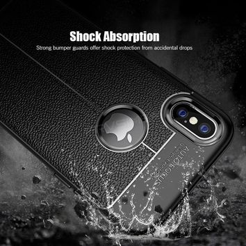 Brand Shockproof Armor, Soft Leather Cases