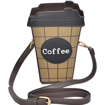 But First Coffee Crossbody Bag
