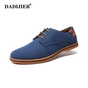 DADIJIER Men Boots 2017 New Fashion Suede Leather shoes Men Casual shoes oxfords for Spring Summer Winter shoes Dropshipping