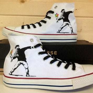 Banksy Flower Thrower Converse