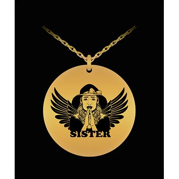 Praying Angelic Sister Necklace